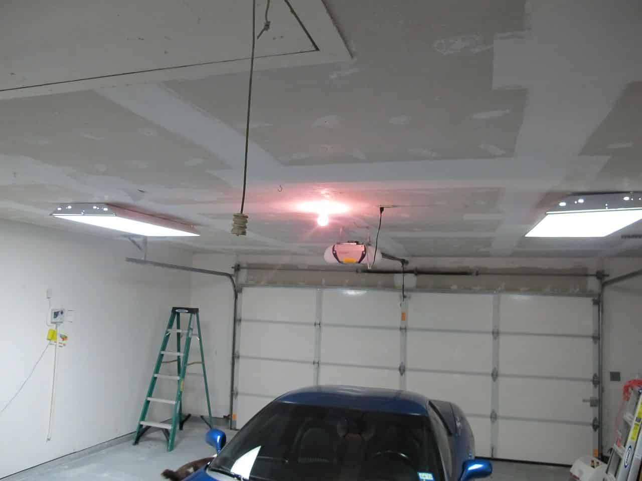 Garage Makeover Bringing Down The Popcorn Ceiling