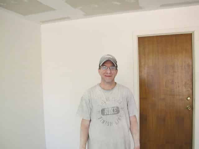 Brian Covered in popcorn ceiling guts