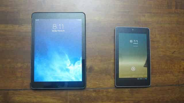 iPad Air and Nexus 7