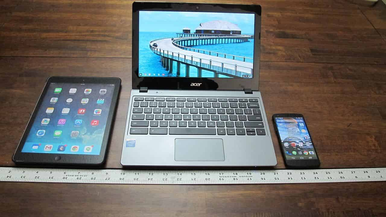 All three Computing Devices Powered On