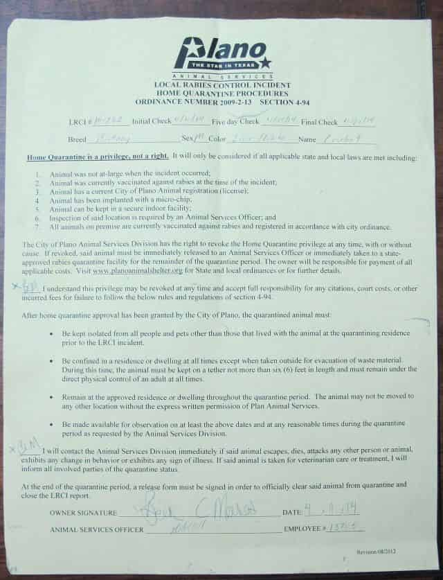 Home Quarantine Form