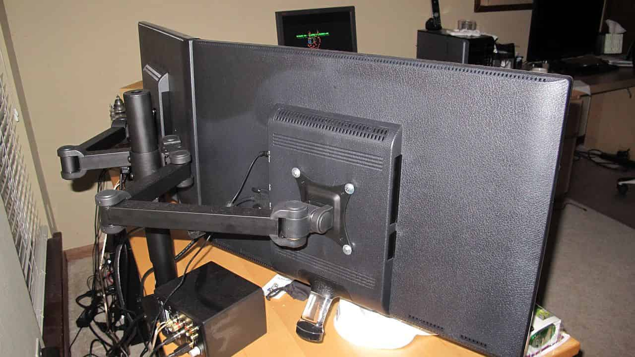 Backside of the monitor mount