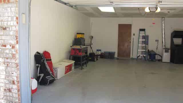 Cleaned garage, left side.