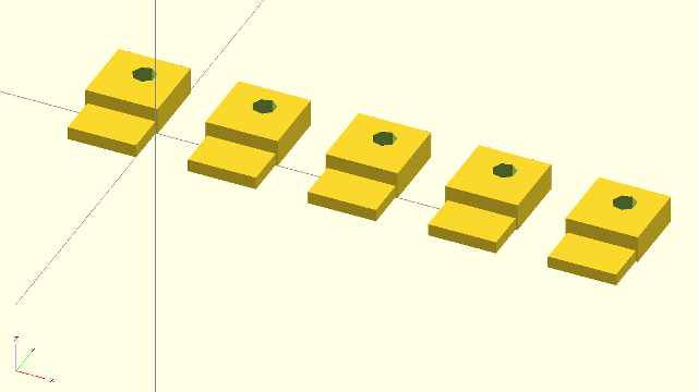 3D Model of the USB Keychain Connector Prototypes