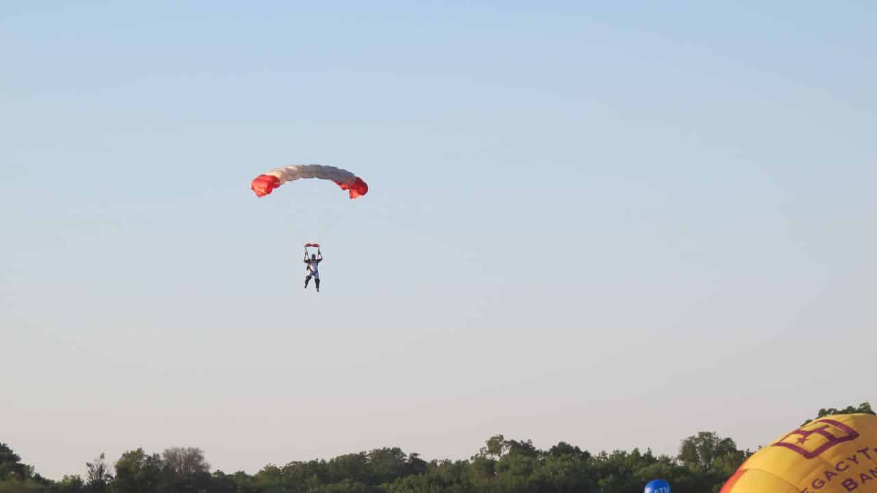 RE/MAX Parachutist Landing after jumping from Balloon