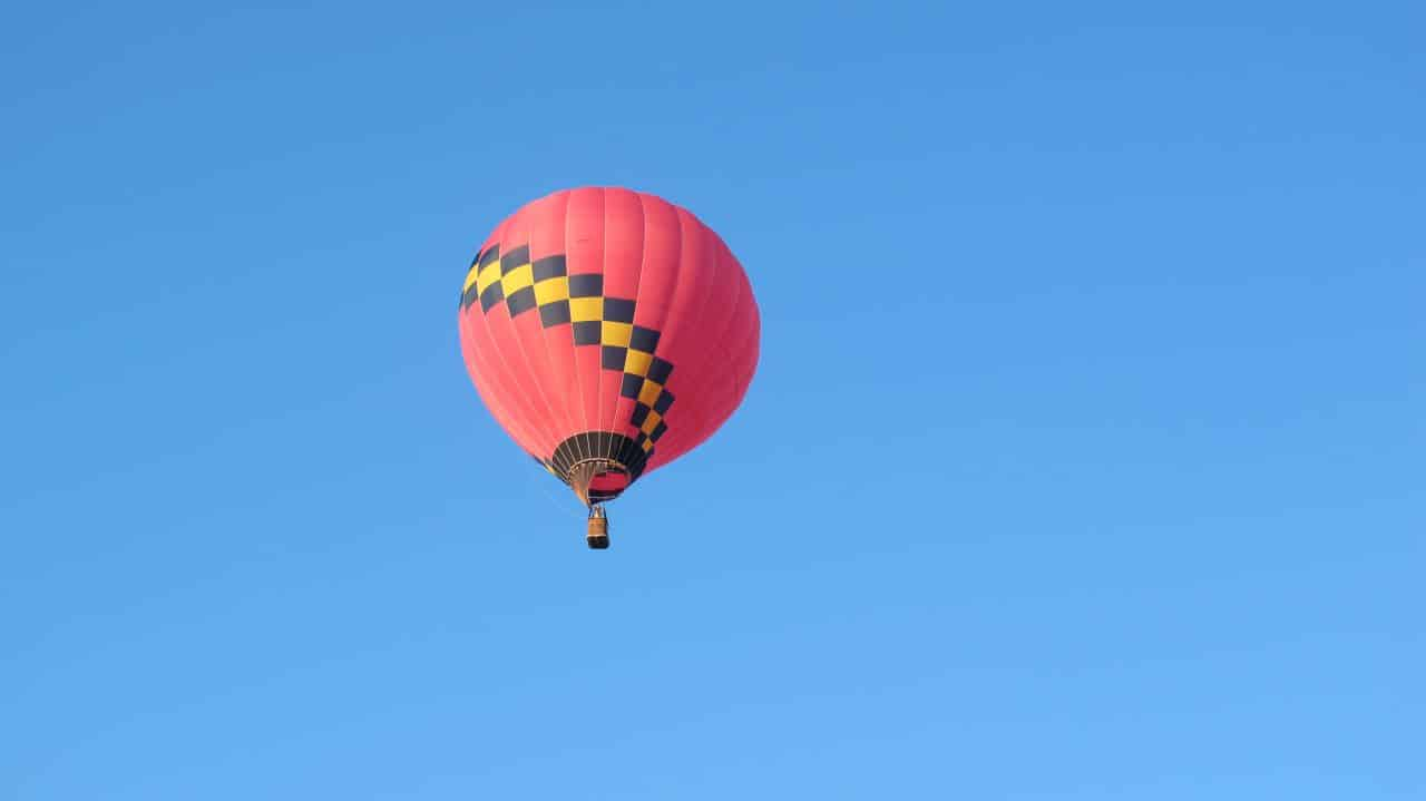 Hot Air Balloon Launched