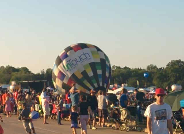 Hot Air Balloons preparing for Launch