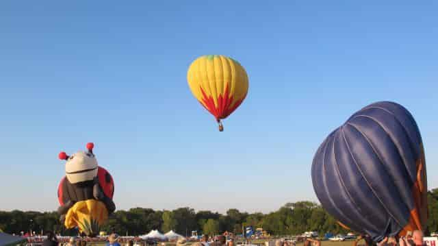 Another Balloon Launches,  Lady Bug deflates