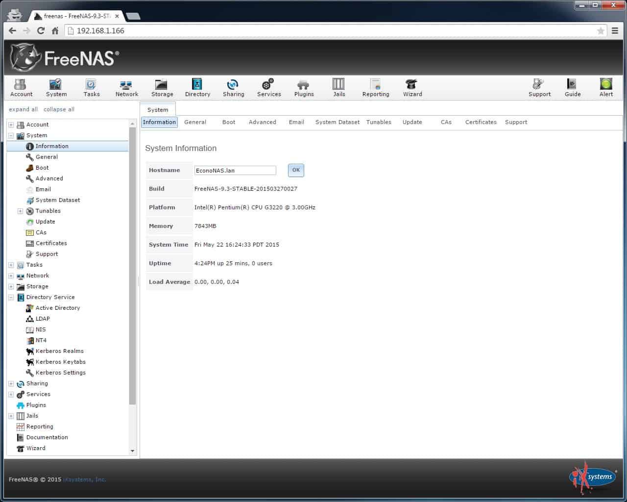 Updating the FreeNAS Hostname