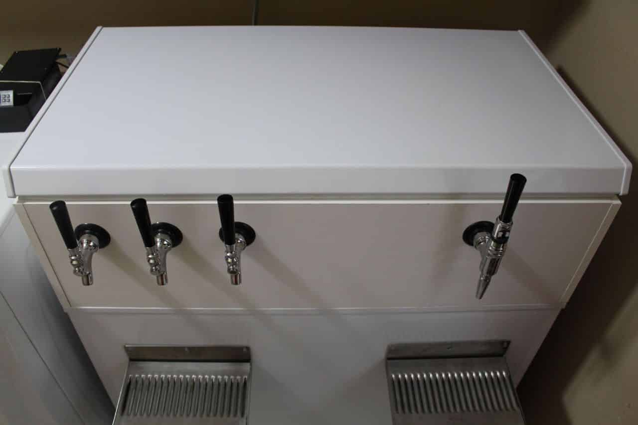 Completed Keezer – Taps and Drip Trays #2