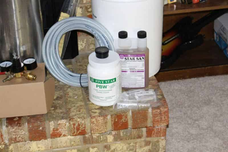 Cleaner, Sanitizer, Beer Gas Tubing, and miscellaneous brewing supplies