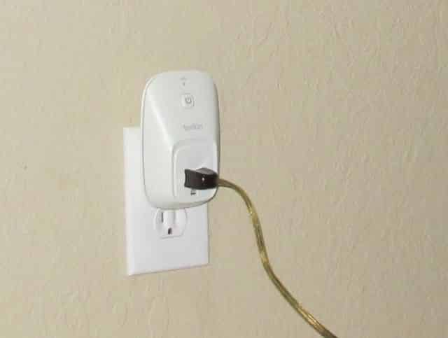 Plugged into Wall