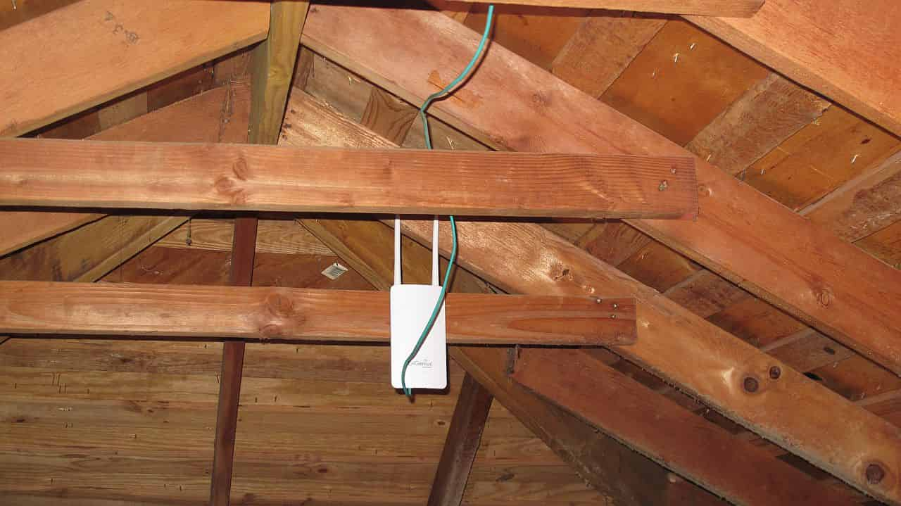 ENS202EXT mounted in attic #1