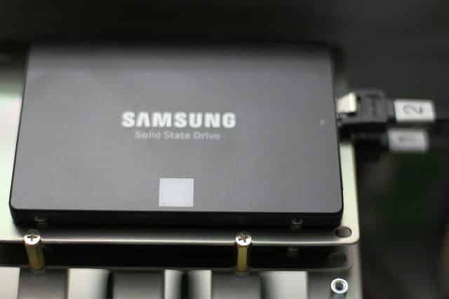 SSDs mounted in stock location #2