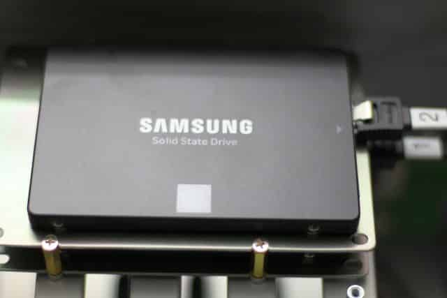 SSDs mounted in stock location #3