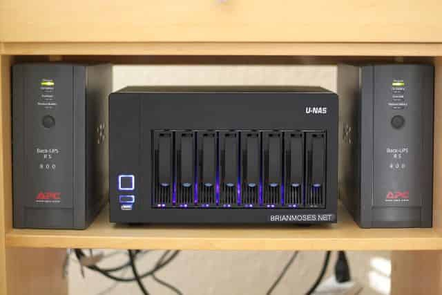 Brian's NAS mounted in his media cart #1