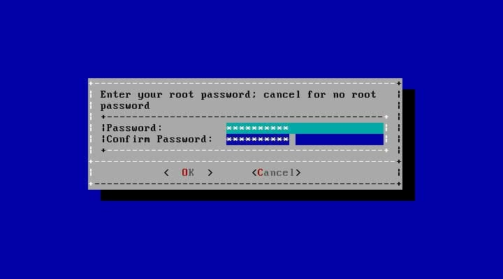 Setting the Root Password