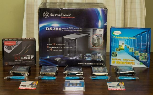 All the 2017 DIY NAS parts,  and then some!