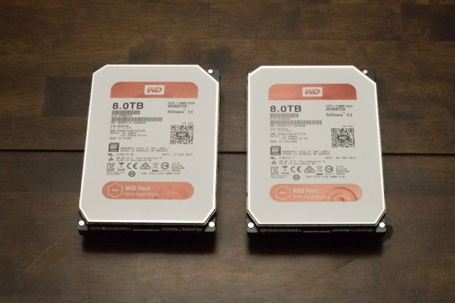 2 x WD Red 8TB NAS HDD - WD80EFZX