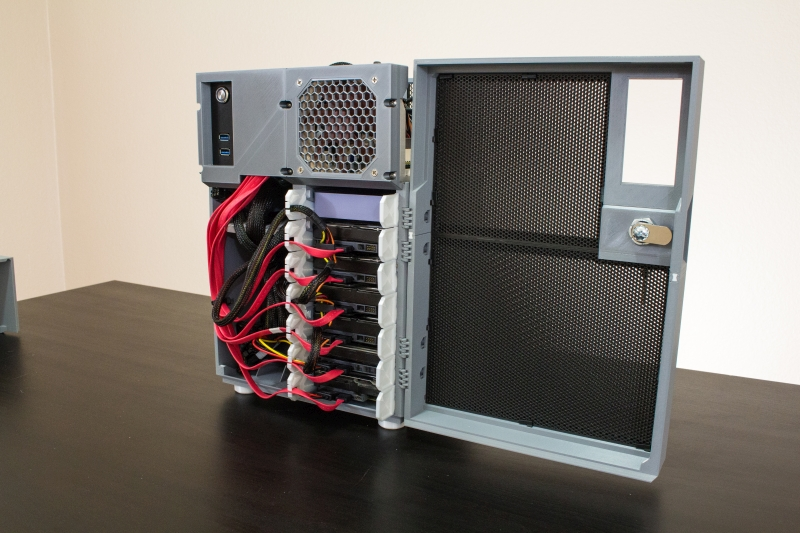 HDDs installed in cage with power and SATA #4