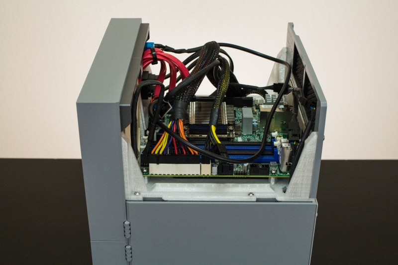 Motherboard Mounted from side  #1