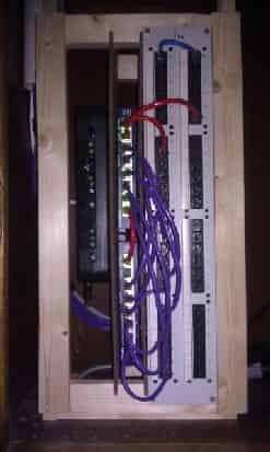 Network Rack in Closed Position