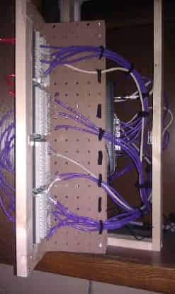 Network Rack in Open Position #1